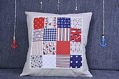 Úžitkový textil - Námornický vankúš s perličkami III. - 8417846_