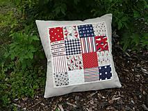 Úžitkový textil - Námornický vankúš s perličkami III. - 8417850_