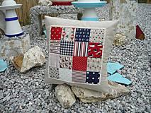 Úžitkový textil - Námornický vankúš s perličkami III. - 8417853_
