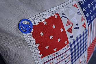Úžitkový textil - Námornický vankúš II. - 8417783_
