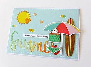 Papiernictvo - pohľadnica letná - 8416377_