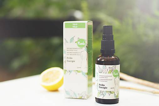 Aromaterapeutický Masážny olej - Príliv Energie