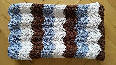 Textil - Háčkovaná deka Zigzag - 8419047_