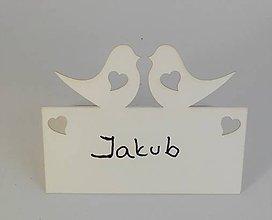 Papier - Menovka vtáčiky alebo ornament - 8417969_