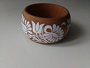 Náramky - DREVENÝ NÁRAMOK (biele kvety) - 8416662_