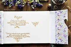 Papiernictvo - Kniha hostí s textom - 8416936_