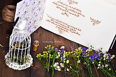 Papiernictvo - Kniha hostí s textom - 8416938_