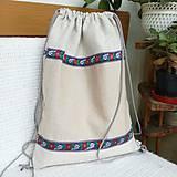 Nákupné tašky - Batoh, taška ľudová - 8416528_