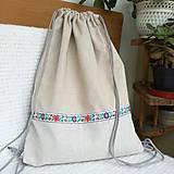 Nákupné tašky - Batoh, taška ľudová - 8416545_