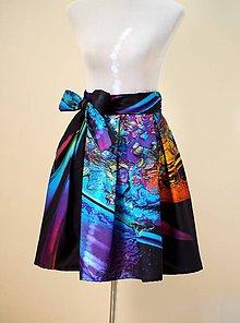Sukne - Zavinovacia sukňa Crystal KVET - 8418294_
