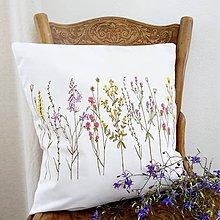 Úžitkový textil - Vankúš - zakvitnutá lúka - 8418712_