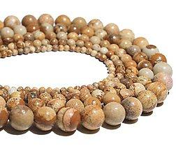 Minerály - Korálka prírodná - jaspis hnedý 10 mm - 8418237_