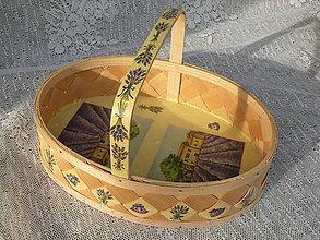 Dekorácie - Oválný romantický košík na dochucovadla - 8417154_