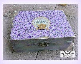Krabičky - Fialová šperkovnica s menom :) - 8418907_