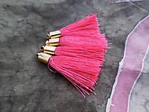 - Strapce hodvábne ružovočervené - pár - 8417004_