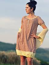 Šaty - Šaty - skořicovo/žluté - 8419059_