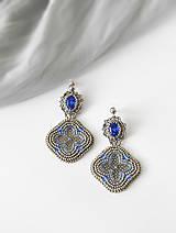 Náušnice - Viktoriánske starostrieborné náušnice  / Victorian old silver earrings - 8419138_