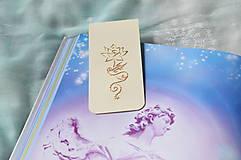Papiernictvo - Magnetická záložka - kvet - 8417184_