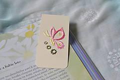 Papiernictvo - Magnetická záložka - motýľ - 8417227_