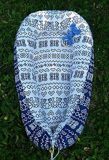 Textil - hniezdo pre bábätko čičmany - 8420326_