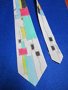Doplnky - Hodvábna kravata Len tak, štvorčeky - 8421155_