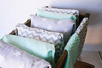 Textil - Vankúšikové mantinely sivo-mentolové - 8420789_