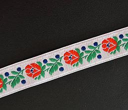 Opasky - Biely folklórny opasok - Hanka - 8421076_