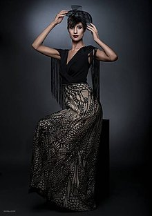 Šaty - A.Deco.šaty. noir.Dmnk. /zľava - 8422373_