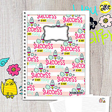 Papiernictvo - MADEBOOK špirálový zošit A5 - ÚSPECH - 8420985_
