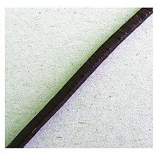 Galantéria - Kožený remienok, hnedý 3x2,5mm/0,5m - 8421170_