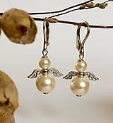 perlové náušnice Anjel