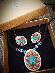 Sady šperkov - set s africkým Tyrkysom - 8419492_