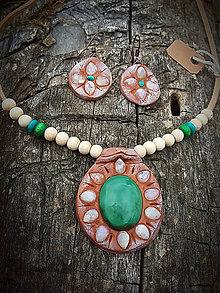Sady šperkov - set Mesačný kameň a tibetský Tyrkys - 8419547_