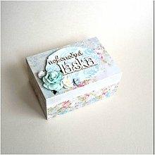 Krabičky - Krabička na prstienky - 8421961_