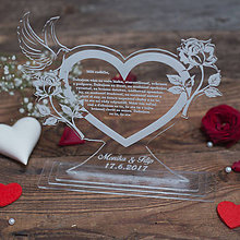 Darčeky pre svadobčanov - Poďakovanie rodičom z akrylu - 8419259_