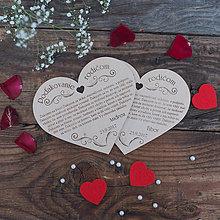 Darčeky pre svadobčanov - Poďakovanie rodičom - 8419261_