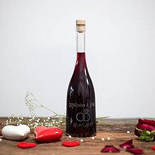 Nádoby - Fľaša na svadobné víno_01 - 8420711_