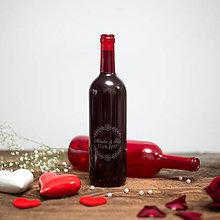 Nádoby - Fľaša na svadobné víno_02 - 8420767_