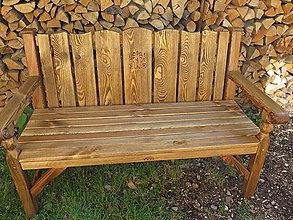 Nábytok - Drevená kartáčovaná lavica - 8419636_