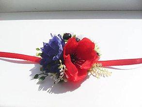 """Náramky - Kvetinový náramok pre družičku """"...farby lúčnych kvietkov..."""" - 8420084_"""