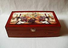 Krabičky - Drevená krabica na víno - 8420450_