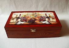 Krabičky - Drevená krabica na víno - 8420452_