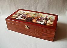 Krabičky - Drevená krabica na víno - 8420453_