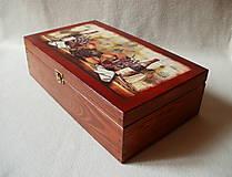 Krabičky - Drevená krabica na víno - 8420454_