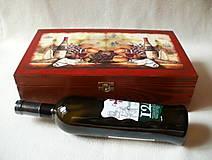 Krabičky - Drevená krabica na víno - 8420456_
