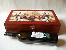 Krabičky - Drevená krabica na víno - 8420457_