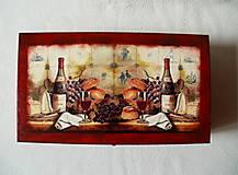 Krabičky - Drevená krabica na víno - 8420460_