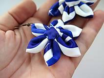 Náušnice - náušnice Modrý ornament - 8420536_