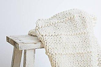 Úžitkový textil - Pletený koberček Natur - 8420912_