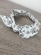 Ozdoby do vlasov - Čelenka biela kvetinková - 8419542_